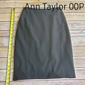 Ann Taylor Pencil Skirt Black Work Outfit 00P Zero
